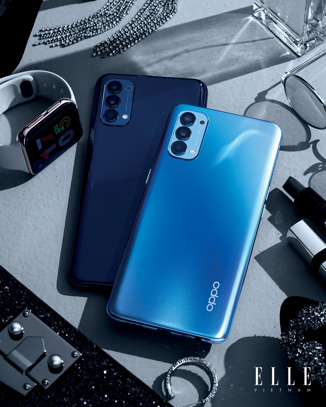 Điện thoại OPPO Reno 4 thời trang màu xanh dương