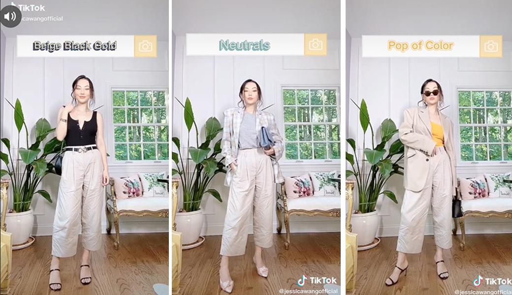 Jessica Wang phối đồ măc đẹp theo màu