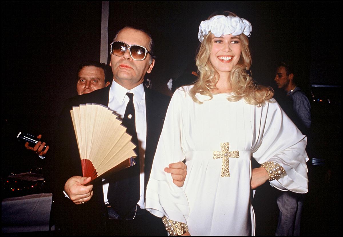 câu nói hay siêu mẫu Claudia Schieffer và Karl Lagerfeld