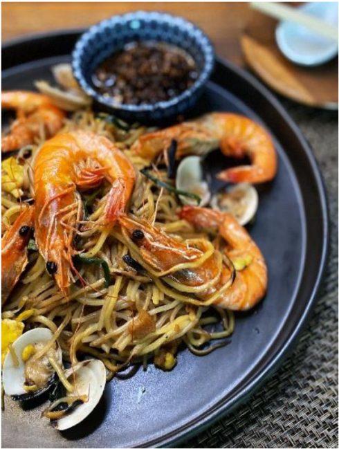 Lễ hội ẩm thực singapore 2020-Mi xào tôm kiểu Phúc Kiến Dam Easy Hokkien Mee