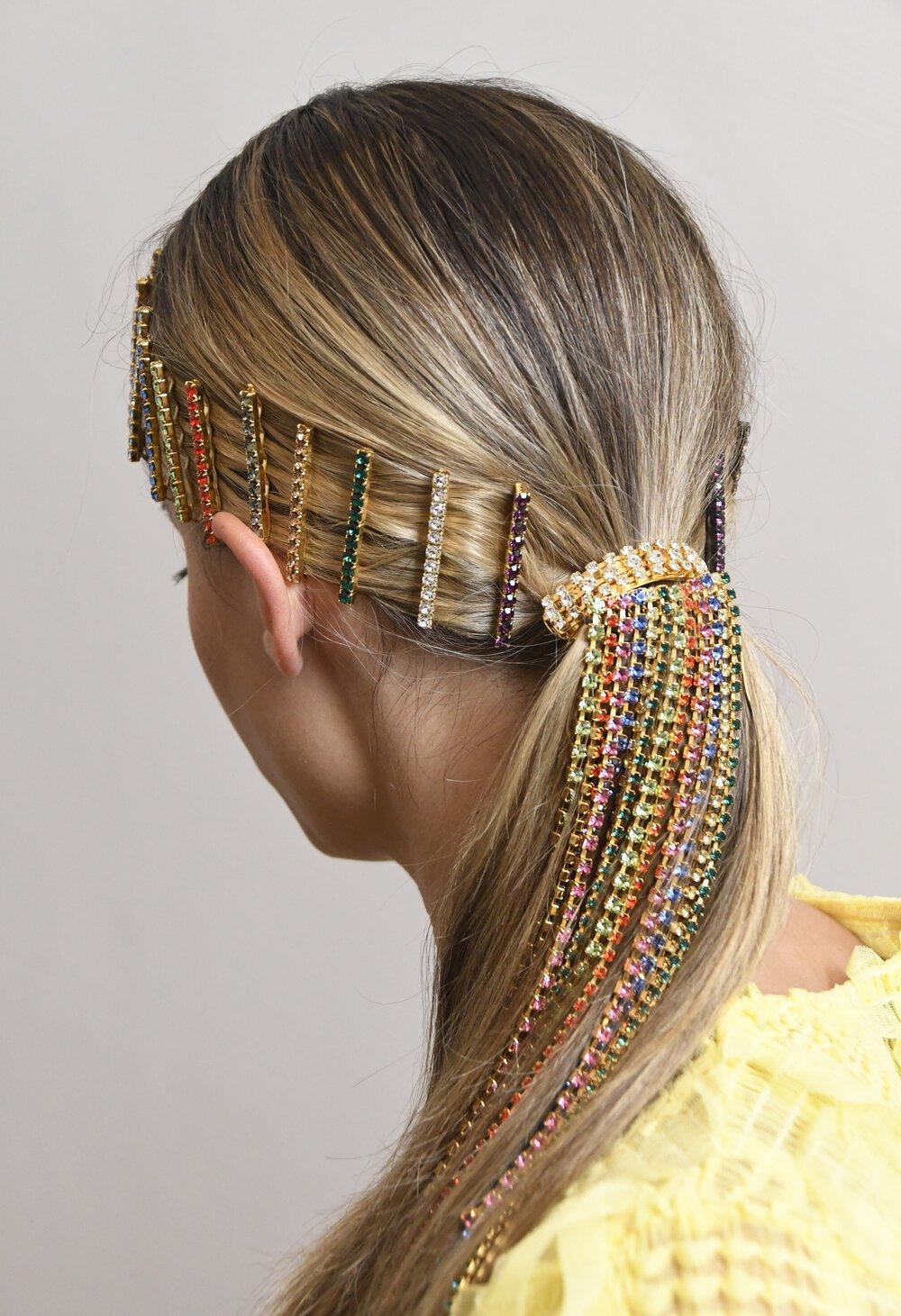 Phụ kiện tóc nhiều màu dạng chuỗi