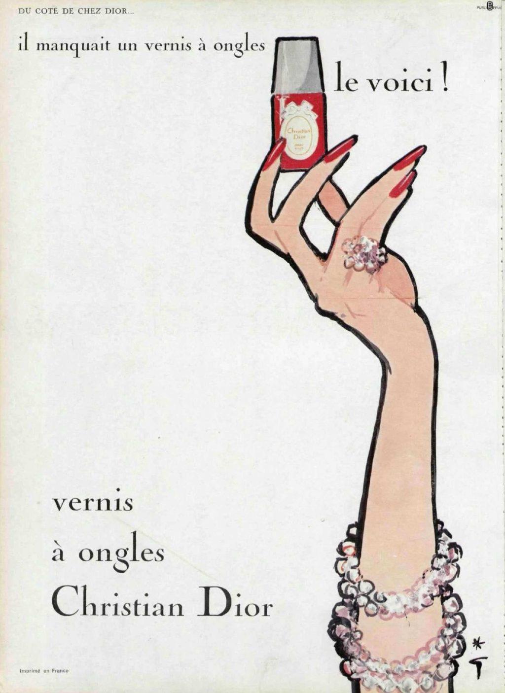Một quảng cáo sơn móng tay đỏ từ nhà mốt Dior