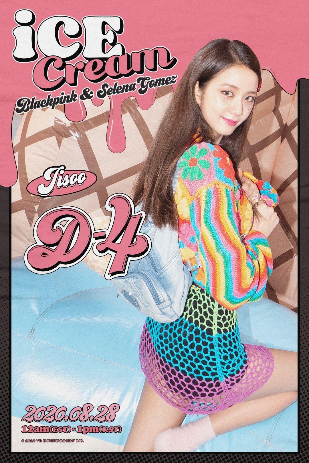 Jisoo blackpink mặc đồ đan móc trong mv ice cream
