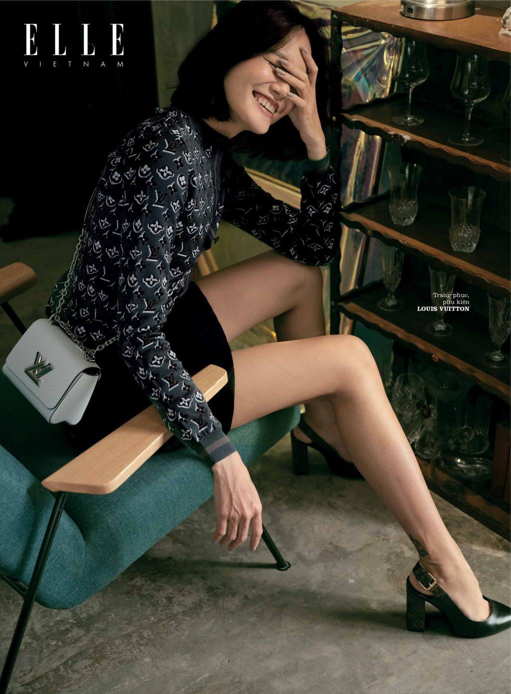 bộ ảnh thời trang áo dài tay Louis Vuitton