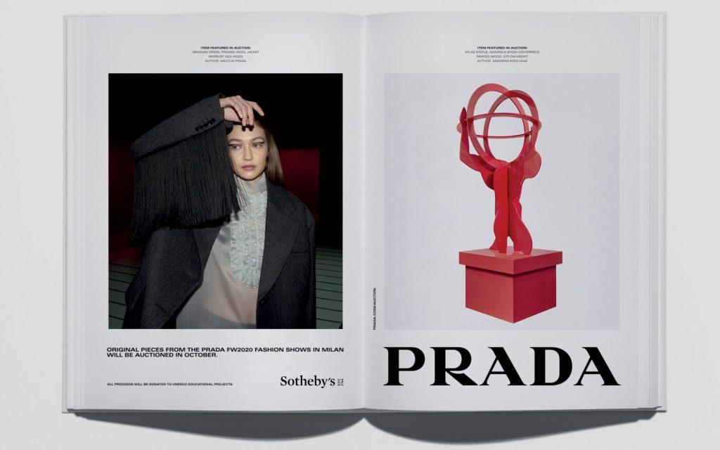 thời trang bst 2020 của Prada trên website Sothebys