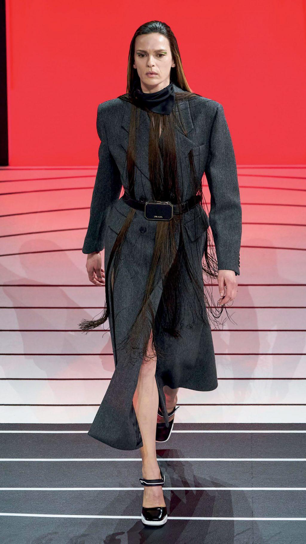 thời trang bst thu đông của Prada