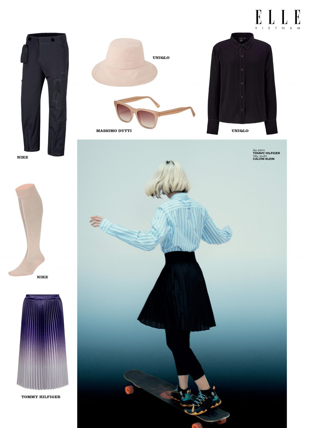 phong cách thời trang streetwear đồng phục học đường