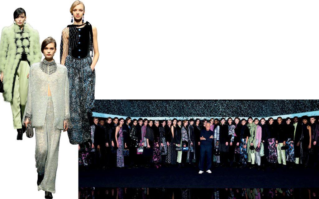 thời trang Armani trình diễn trực tuyến