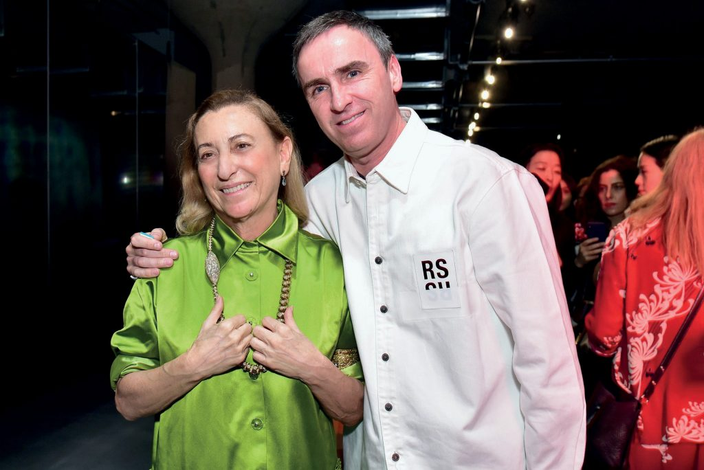 thời trang Raf Simons gia nhập Prada