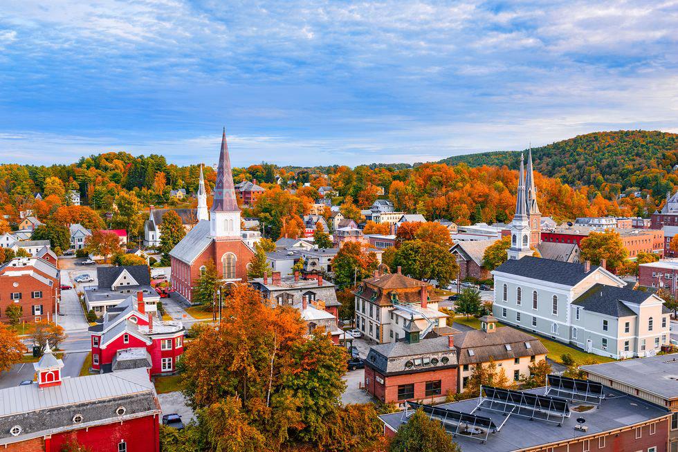 mùa thu ở thị trấn nhỏ