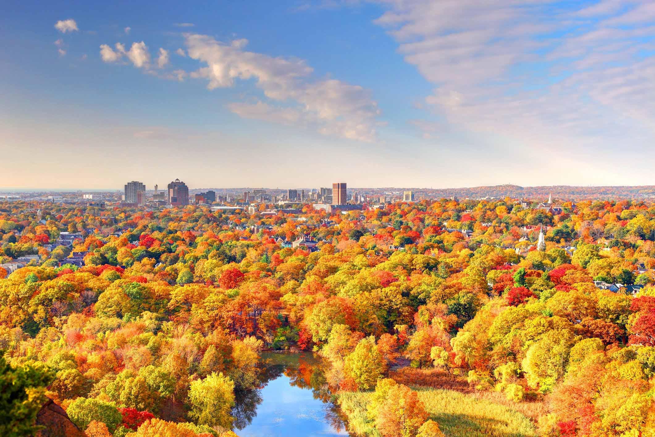 mùa thu vàng đỏ