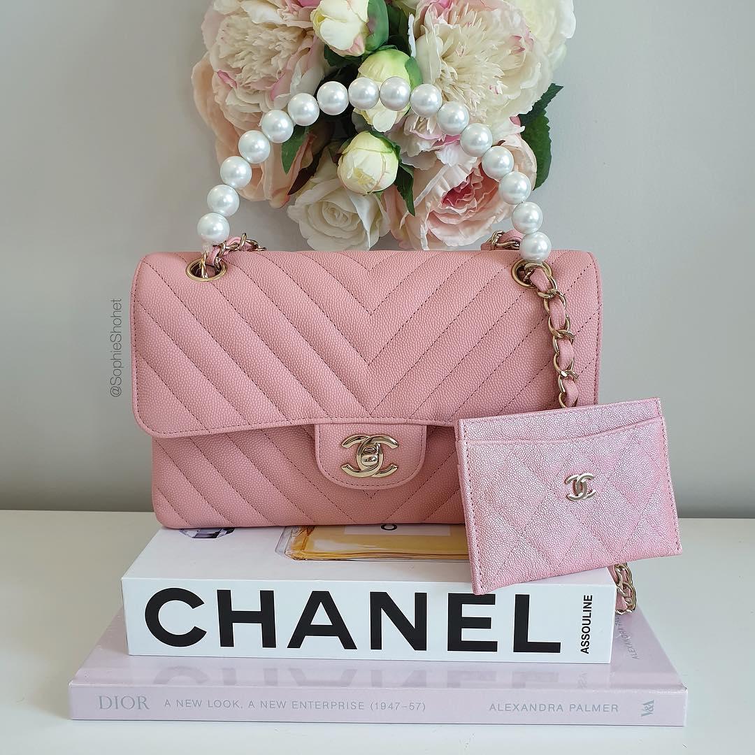 túi xách chanel hồng