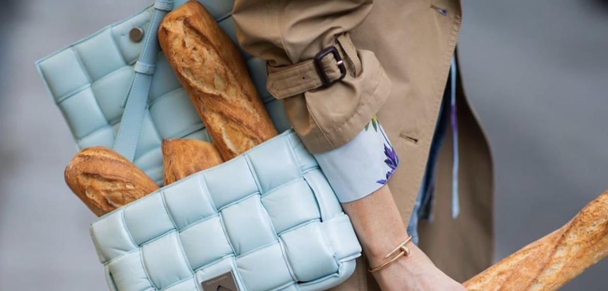túi xách bottega xanh ổ bánh mì