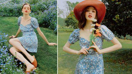 Váy hoa nhí - Nét dịu dàng và lãng mạn cho ngày chớm Thu