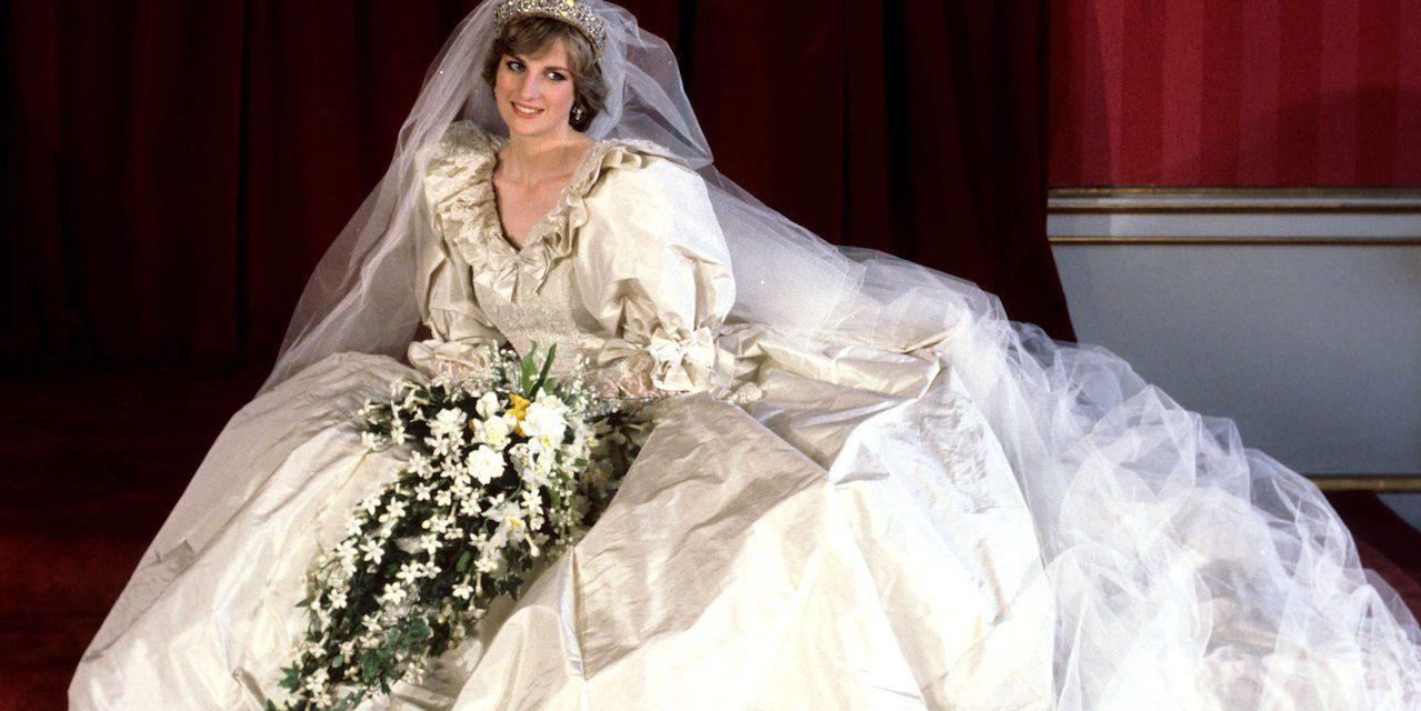 váy cưới của công nương diana