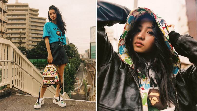 người mẫu koki phong cách thời trang streetwear bst bape x coach 2020