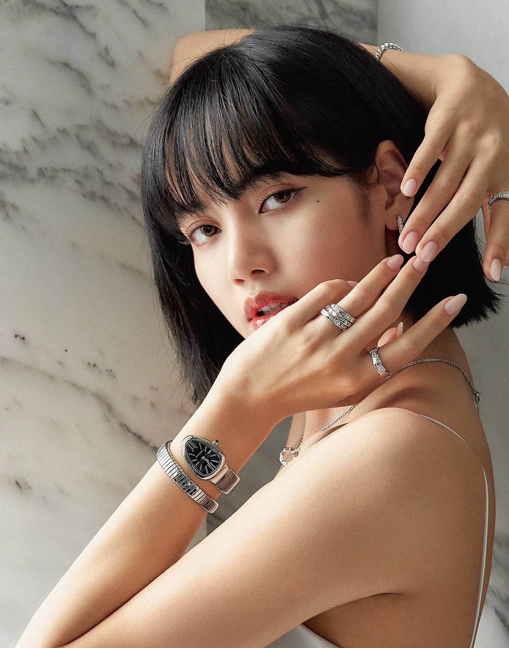 lisa đại sứ thương hiệu thời trang Bvlgari