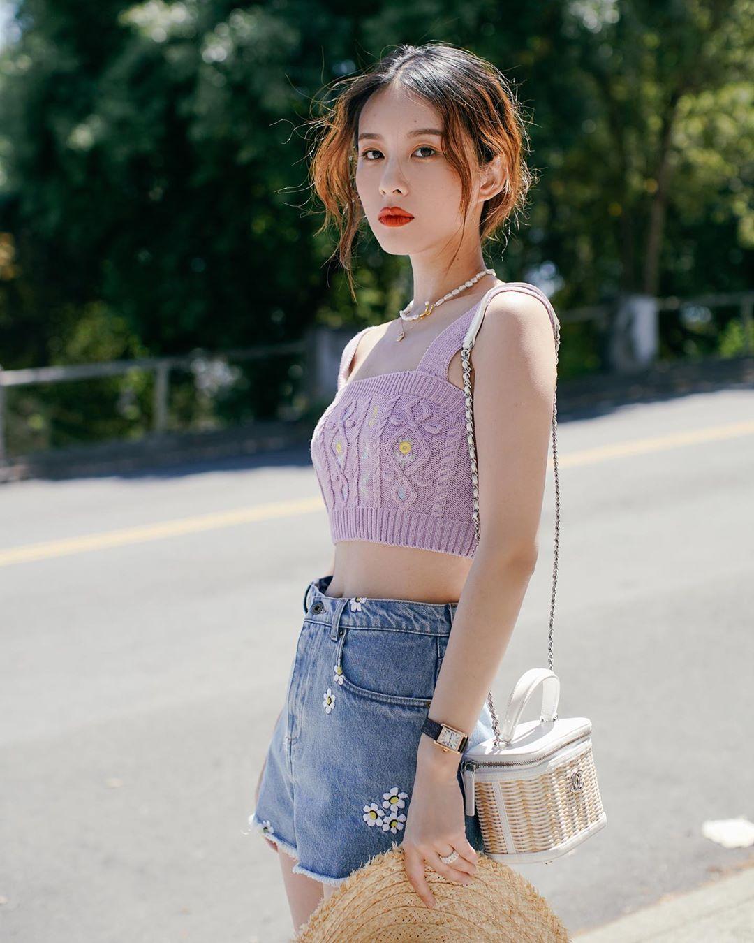 màu tím hồng thời trang xuân hè 2021