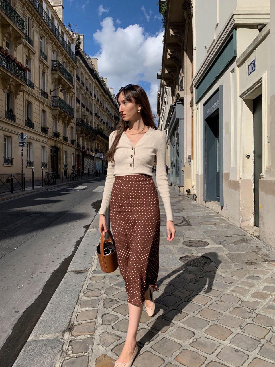 giày búp bê đính nơ mang phong cách của những cô gái Pháp