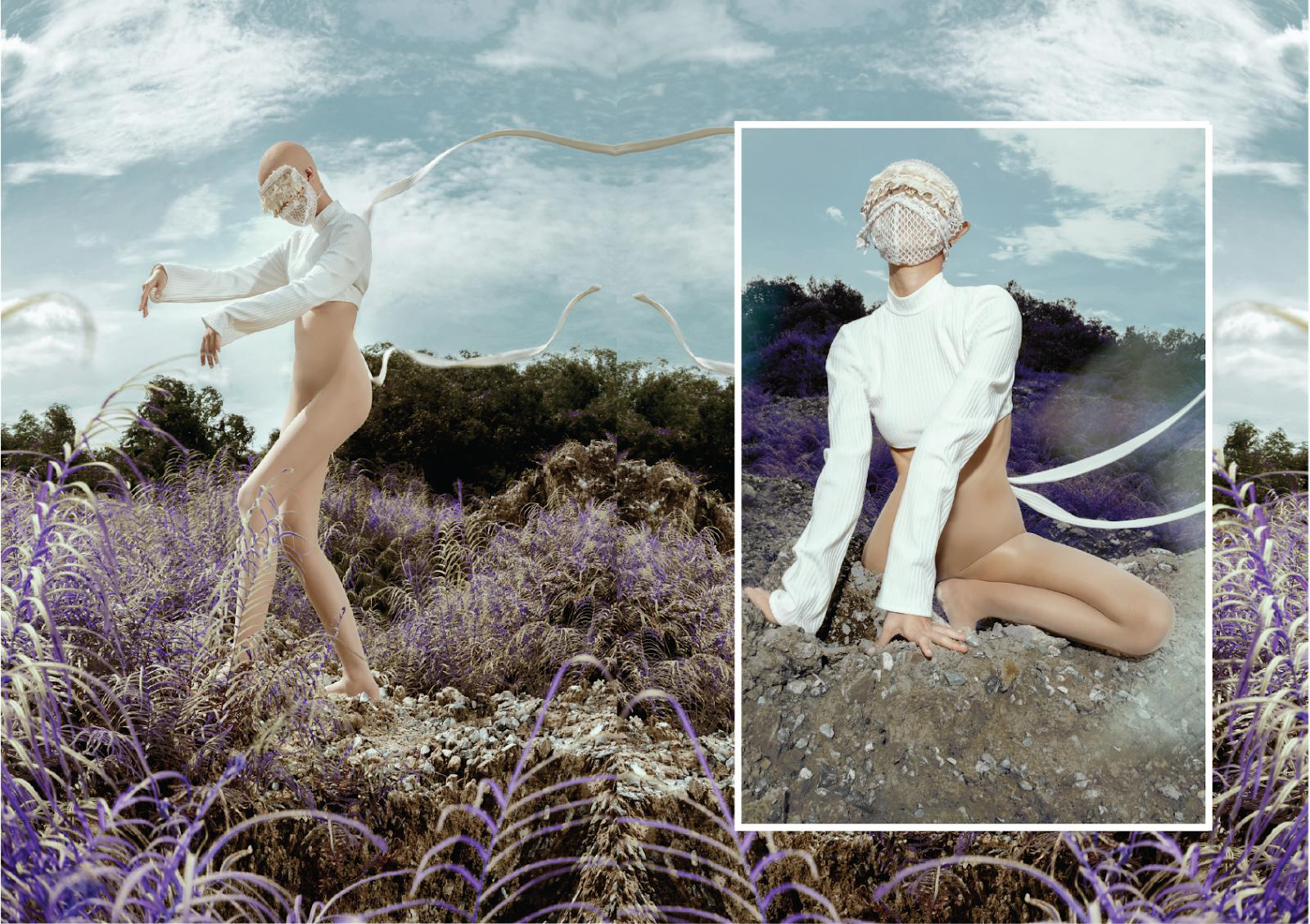 "fashion creation 2020 BST ""White Demons"" - Lưu Gia Uyên."