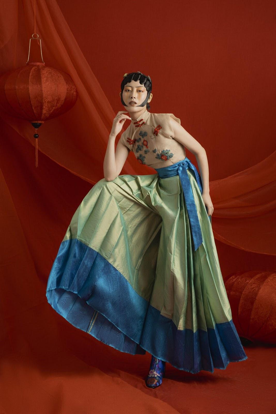 "fashion creation 2020 BST""Peking Opera"" - Nguyễn Võ Minh Anh."