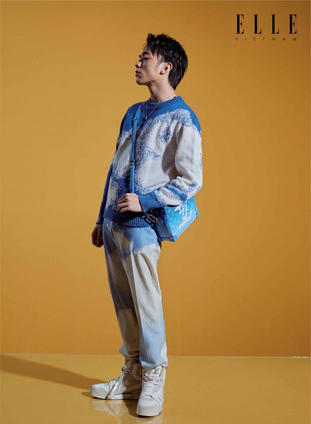 Soobin Hoàng Sơn đeo túi xách Louis Vuitton