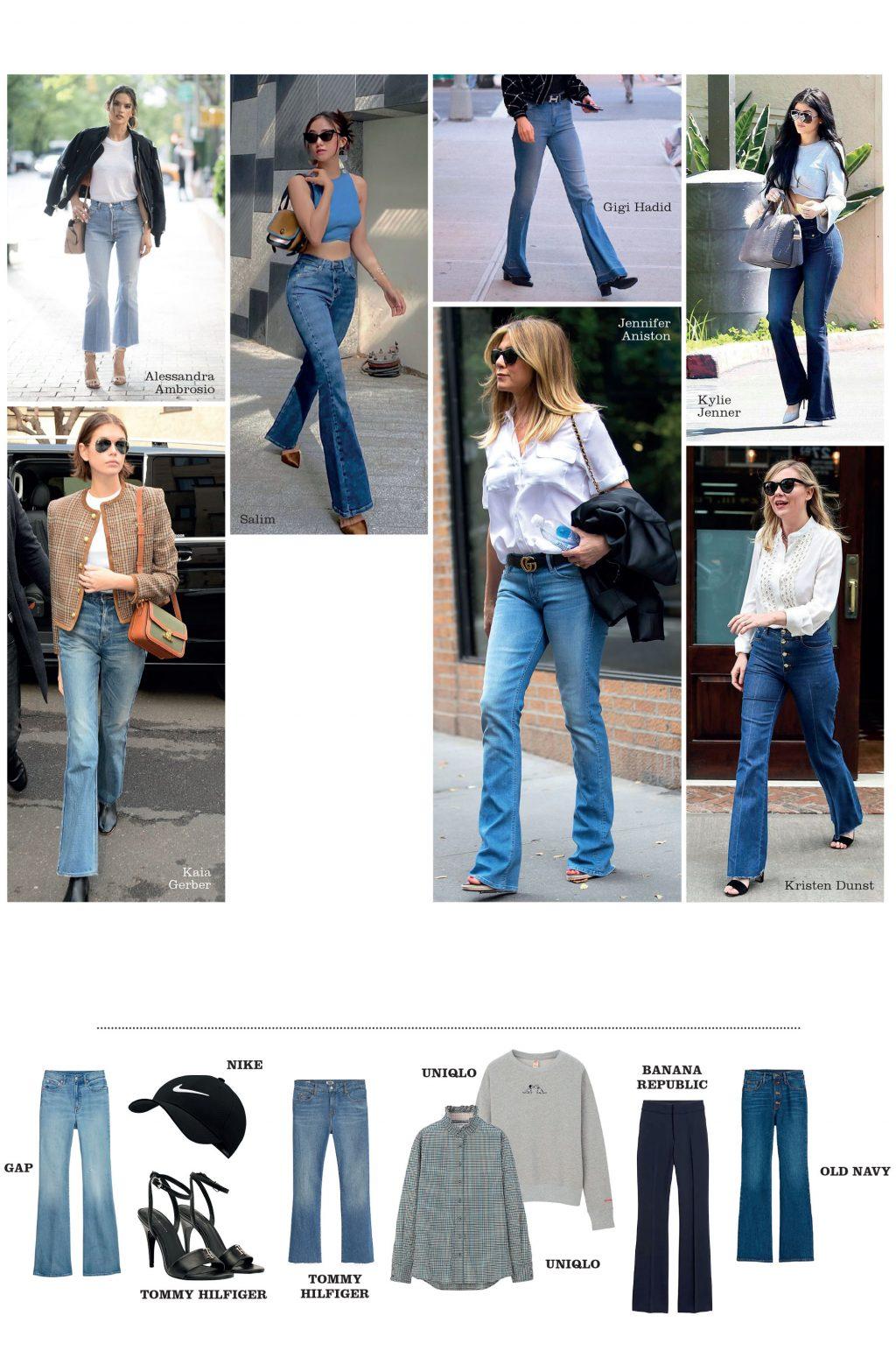 món đồ quần jeans ống loe