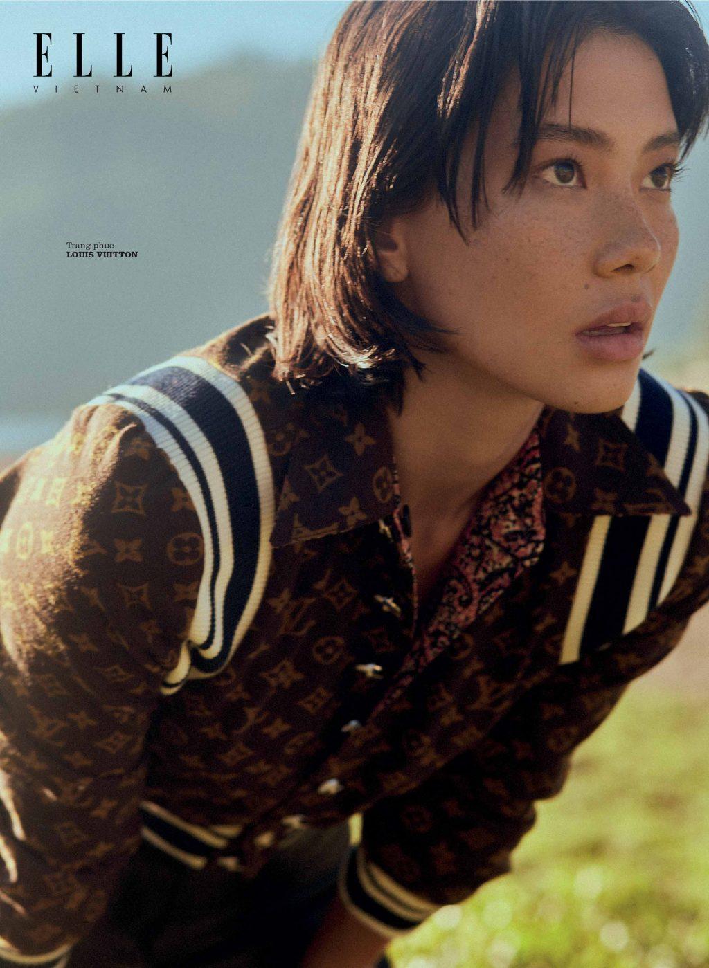 bộ ảnh thời trang Thu - Đông trang phục họa tiết monogram