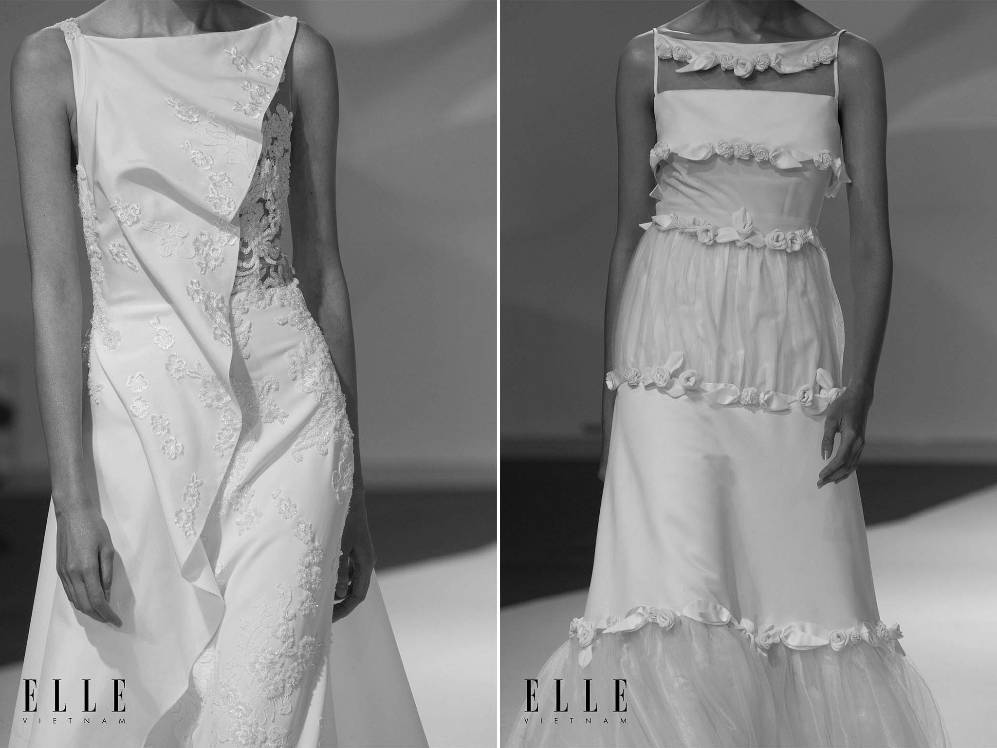 NTK Trương Thanh Hải BST váy cưới cùng những thiết kế họa tiết tinh tế