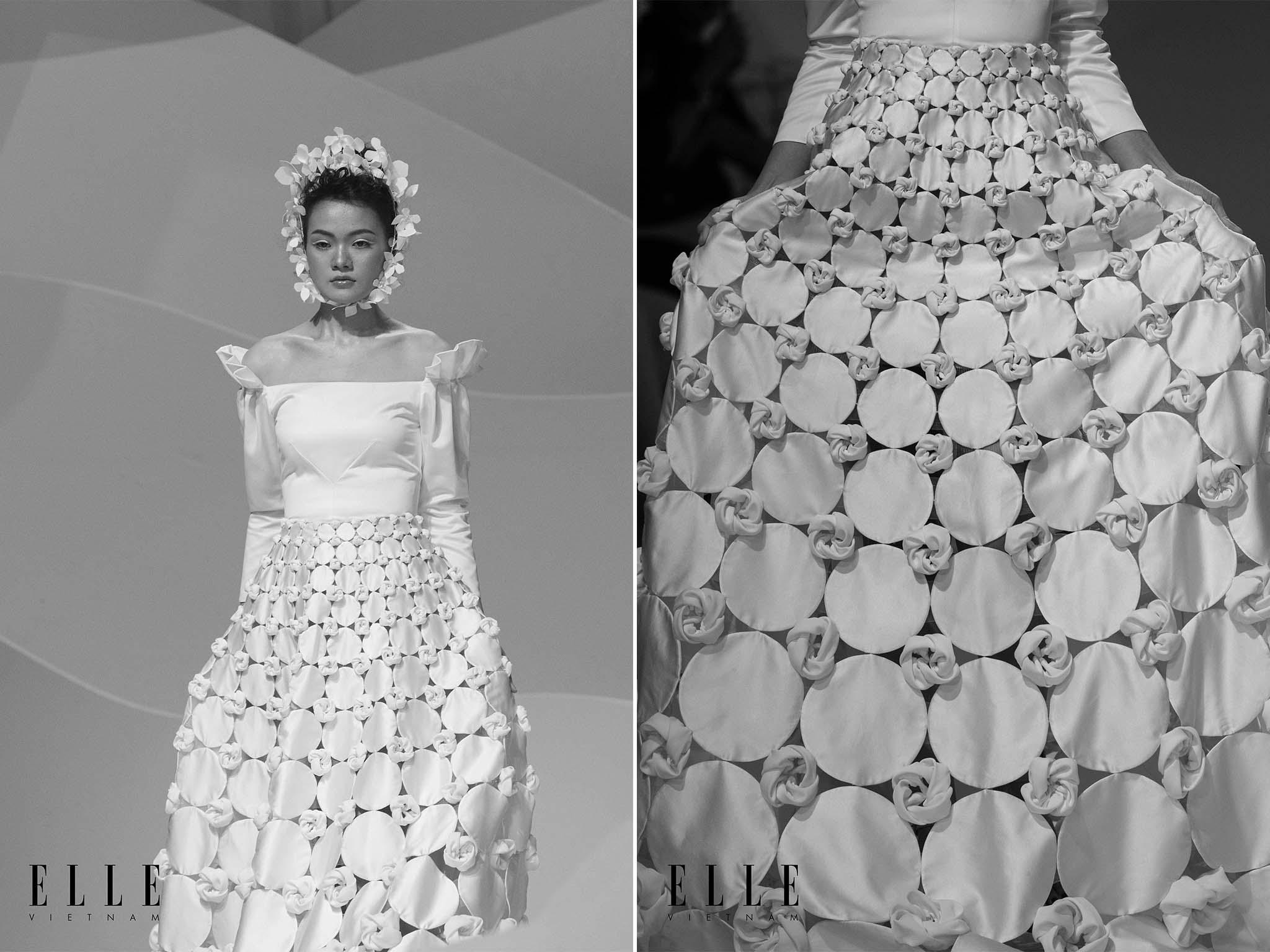 NTK Trương Thanh Hải cùng BST váy cưới chân váy được thiết kế độc đáo