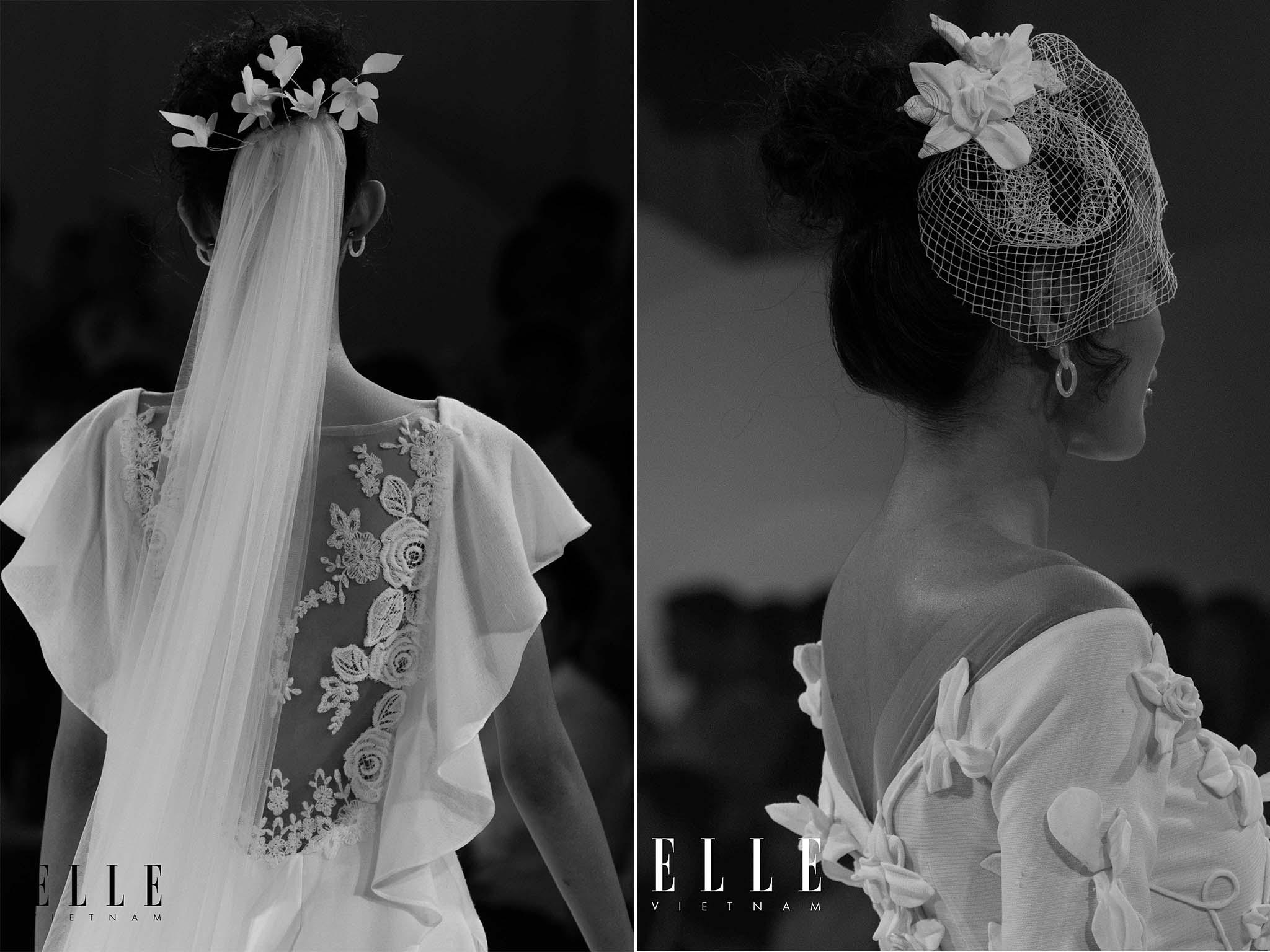 NTK Trương Thanh Hải cùng BST váy cưới với thiết kế khăn voan cô dâu tinh tế