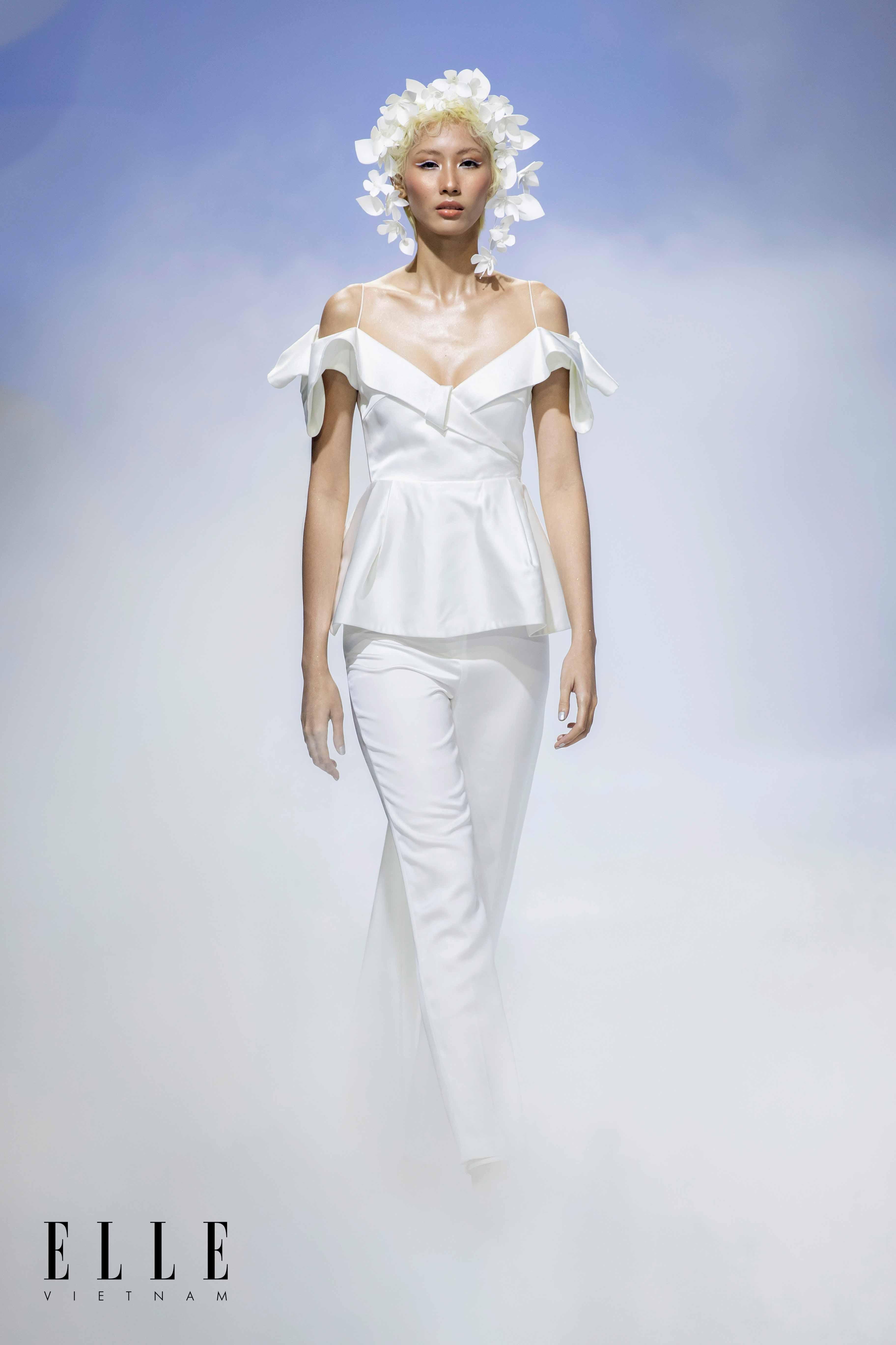 NTK Trương Thanh Hải BST váy cưới quần áo rời độc đáo