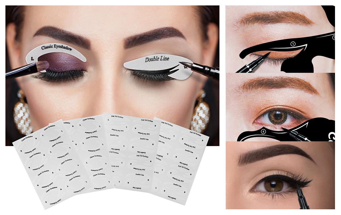 Sử dụng sản phẩm trang điểm giấy dán kẻ mắt giúp nàng dễ dàng sở hữu đôi mắt mèo như mong muốn.