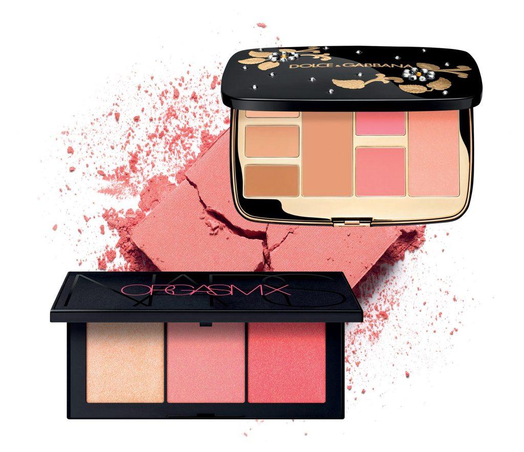 bảng phấn trang điểm màu da của Nars và Dolce Gabbana