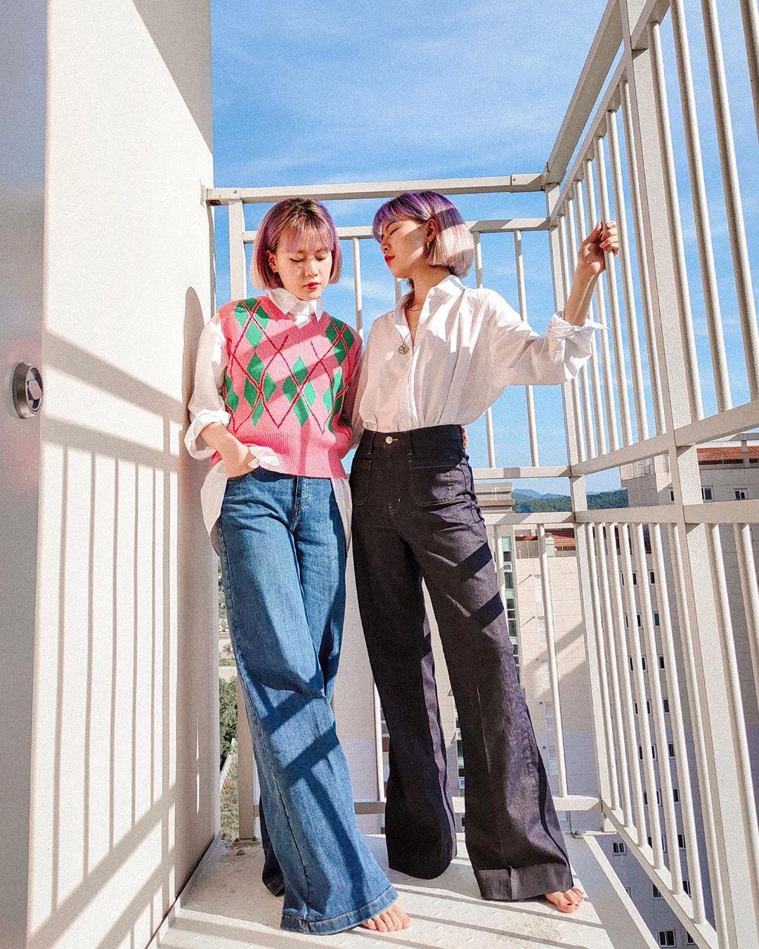 món đồ retro thời trang quần jeans ống loe