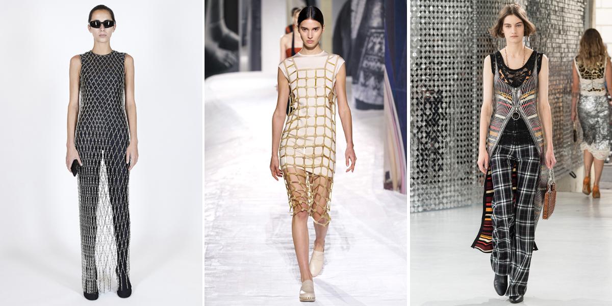 """Xu hướng thời trang Xuân – Hè 2021: Cuộc """"đổ bộ"""" của những kiểu dáng bất quy tắc BALENCIAGA-hermes-paco-rabanne-SPRING-21-trang-phuc-luoi"""
