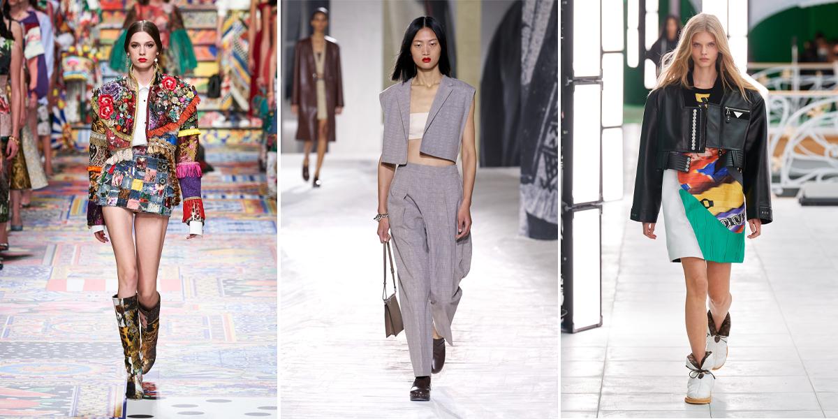 """Xu hướng thời trang Xuân – Hè 2021: Cuộc """"đổ bộ"""" của những kiểu dáng bất quy tắc Dolcegabbana-herm%C3%A8s-louisvuitton-thoi-trang-ao-khoac-ngan-Spring-2021"""
