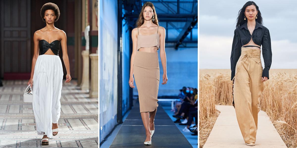 """Xu hướng thời trang Xuân – Hè 2021: Cuộc """"đổ bộ"""" của những kiểu dáng bất quy tắc Gabriela-hearst-jacquemus-no-21-Spring-micro-top-21"""