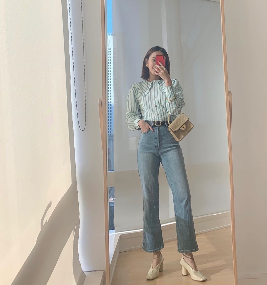 quần jeans lưng cao petite