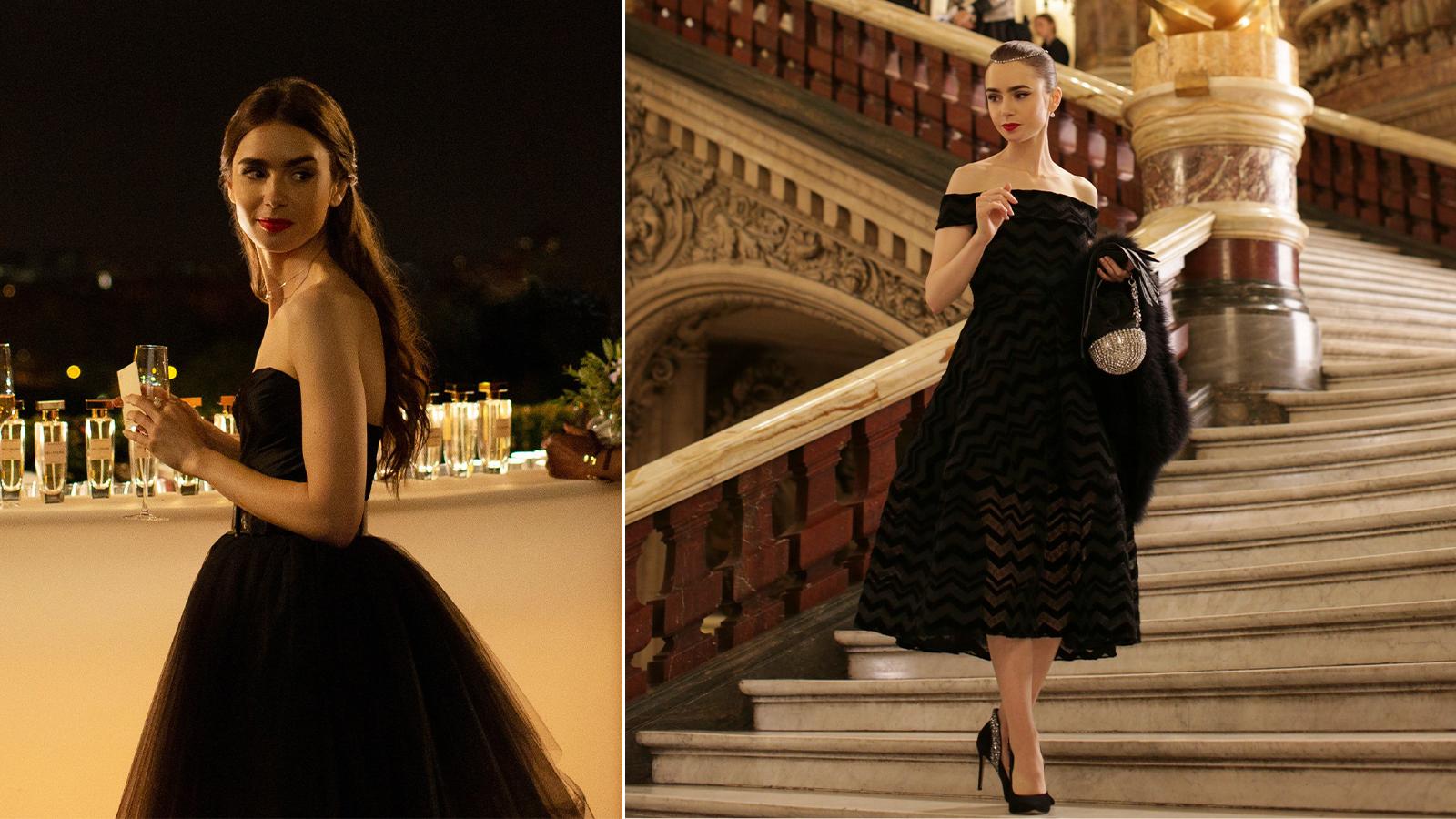 váy đi tiệc dress code trang trọng emily in paris