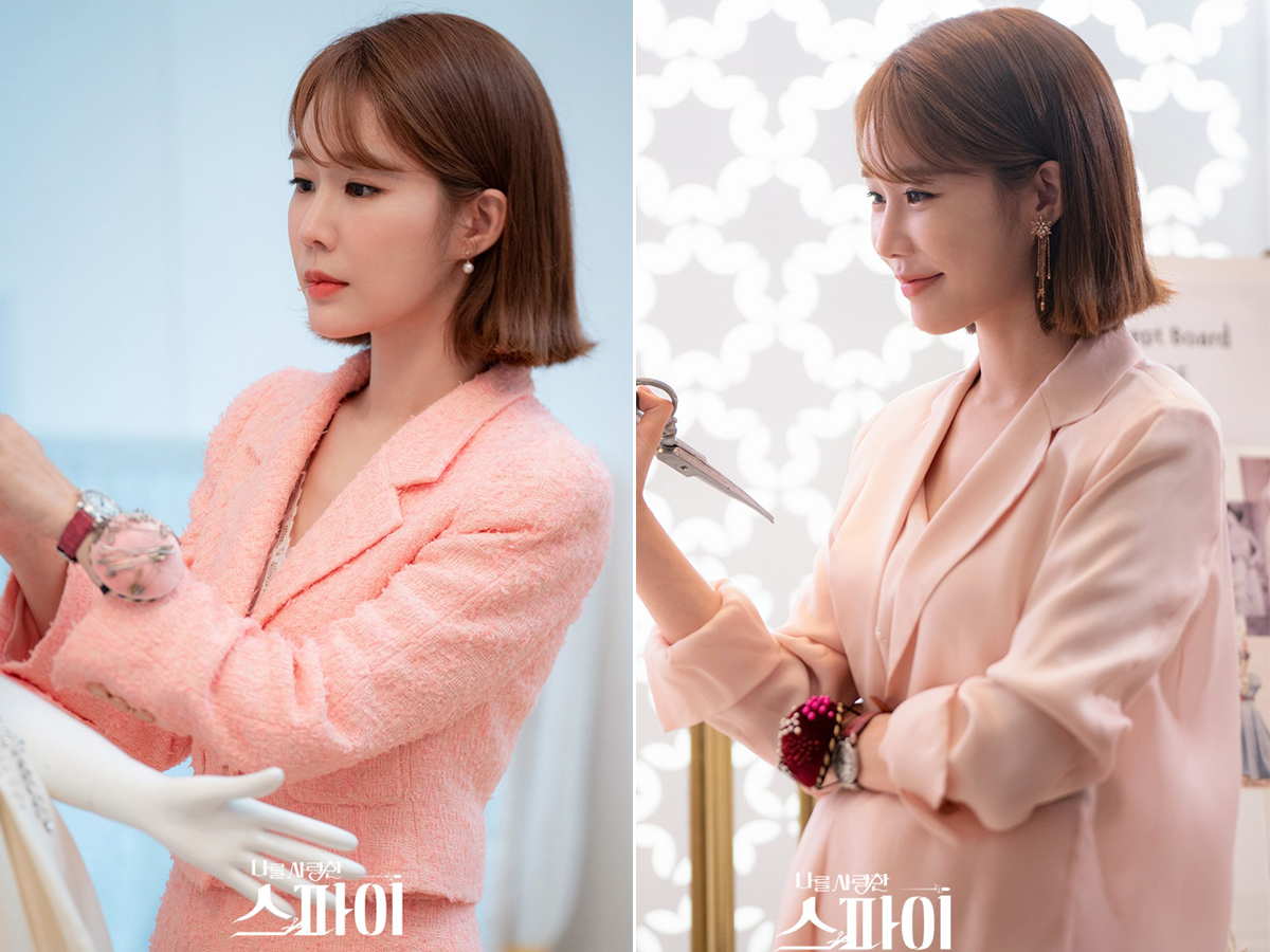 Yoo In Na mặc âu phục hồng trong phim Hàn Quốc The Spies Who Loved Me