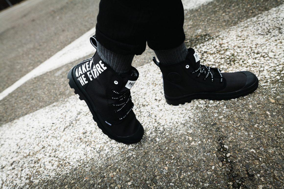 Palladium và dòng giày Pampa Hi Future cùng dòng chữ Make The Future phong cách thời trang siêu ngầu