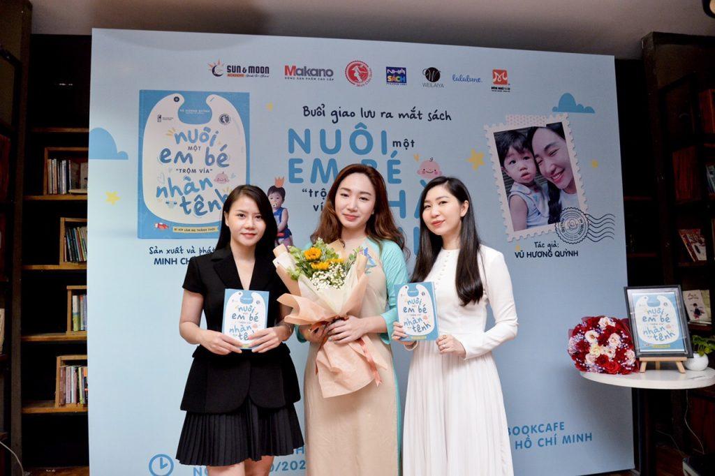 Hình ảnh Million CEO Weilaiya Linh Berry cùng đơn vị tổ chức Minh Châu Books và tác giả Vũ Hương Quỳnh tại chương trình giao lưu ra mắt sách tại TP.HCM