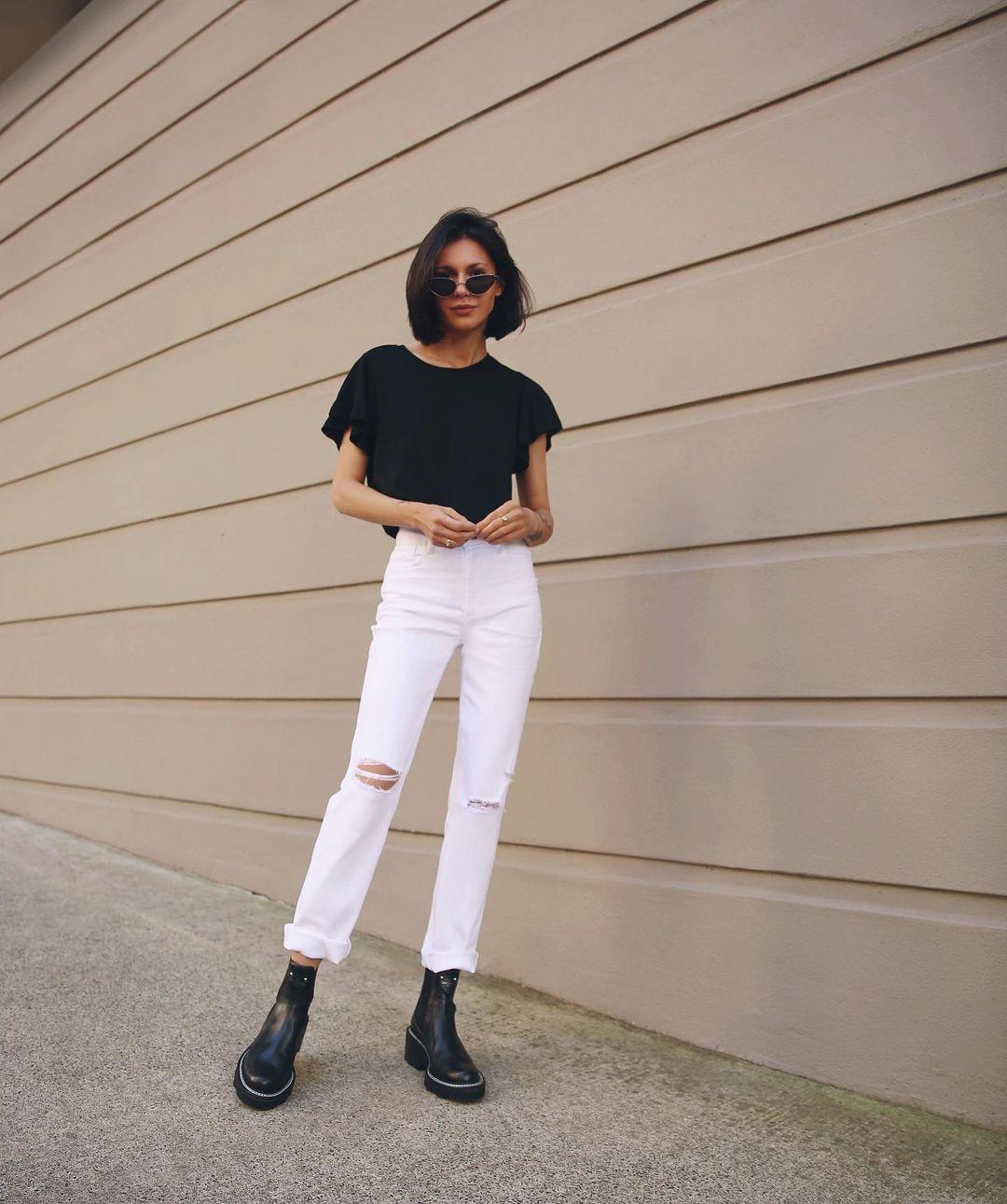lỗi phối đồ với ankle boots và quần jeans
