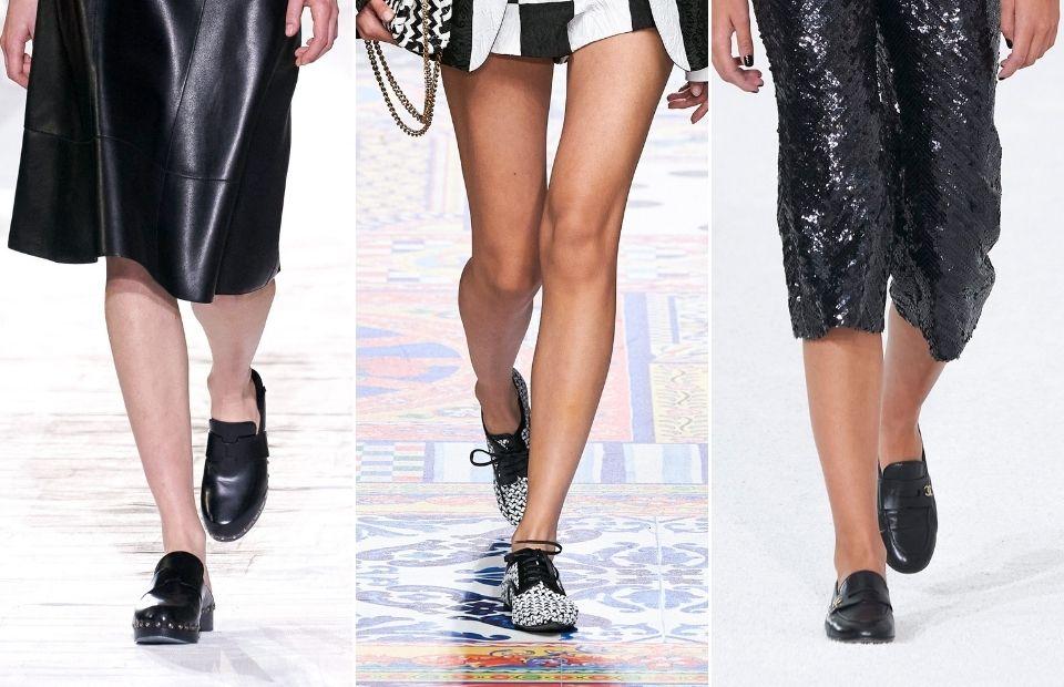 thiết kế giày nữ loafer tại tuần lễ thời trang xuân hè 2021