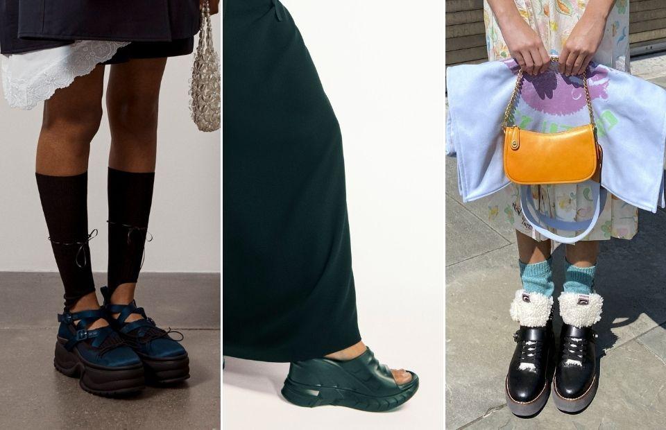 thiết kế giày nữ platform tại tuần lễ thời trang xuân hè 2021