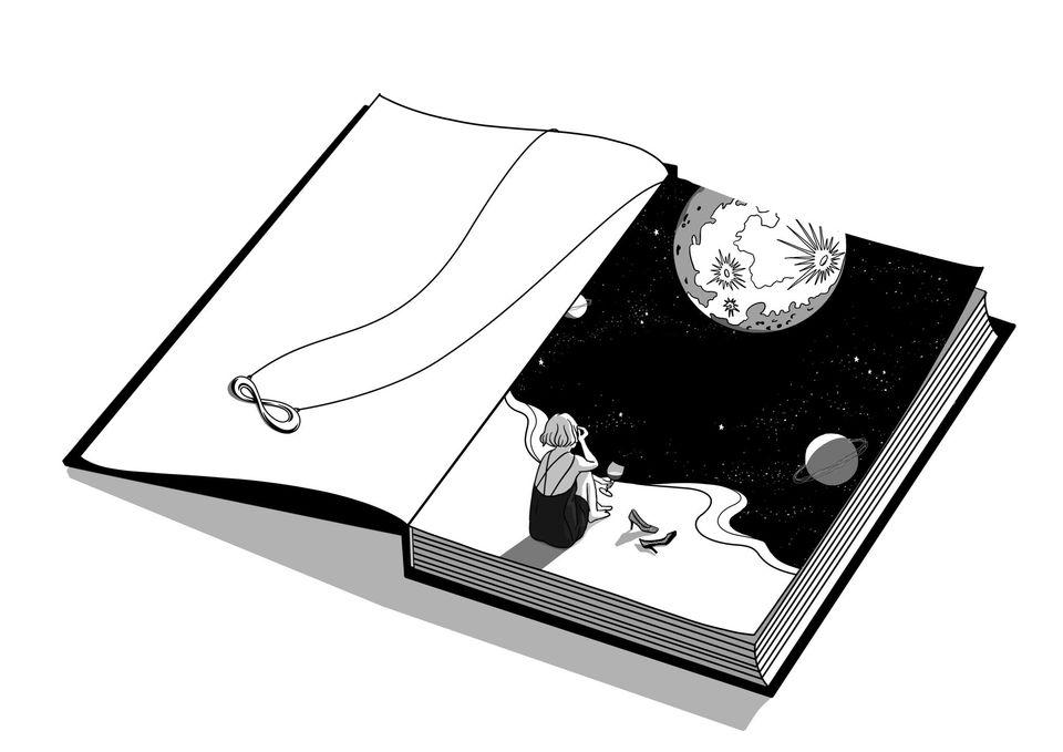 ảnh minh họa trong Cuốn sách của nàng thơ