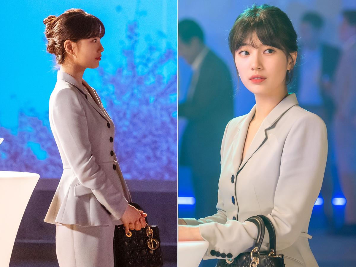 Suzy mặc blazer peplum trong phim Start Up