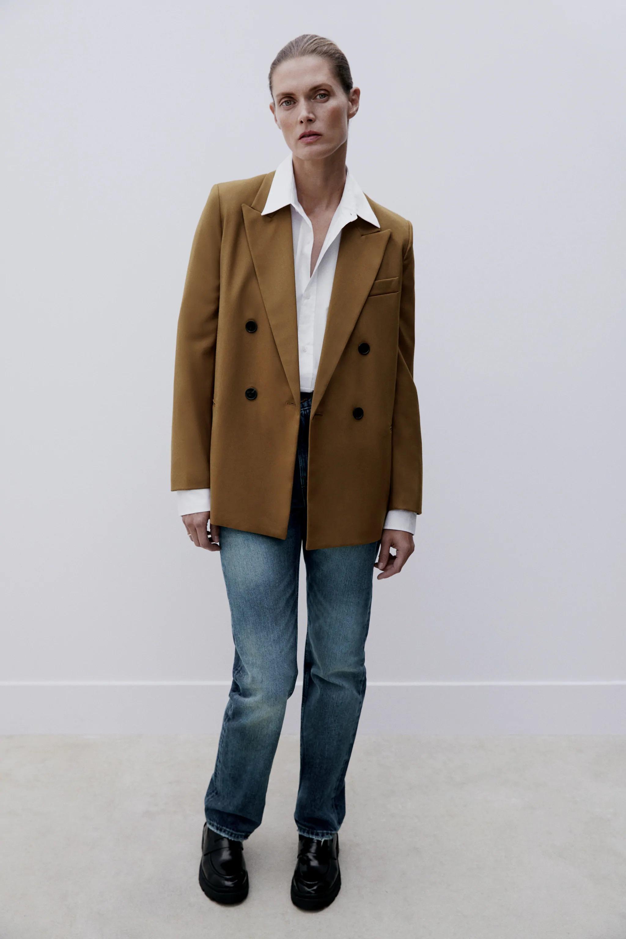 Áo khoác blazer Zara màu nâu