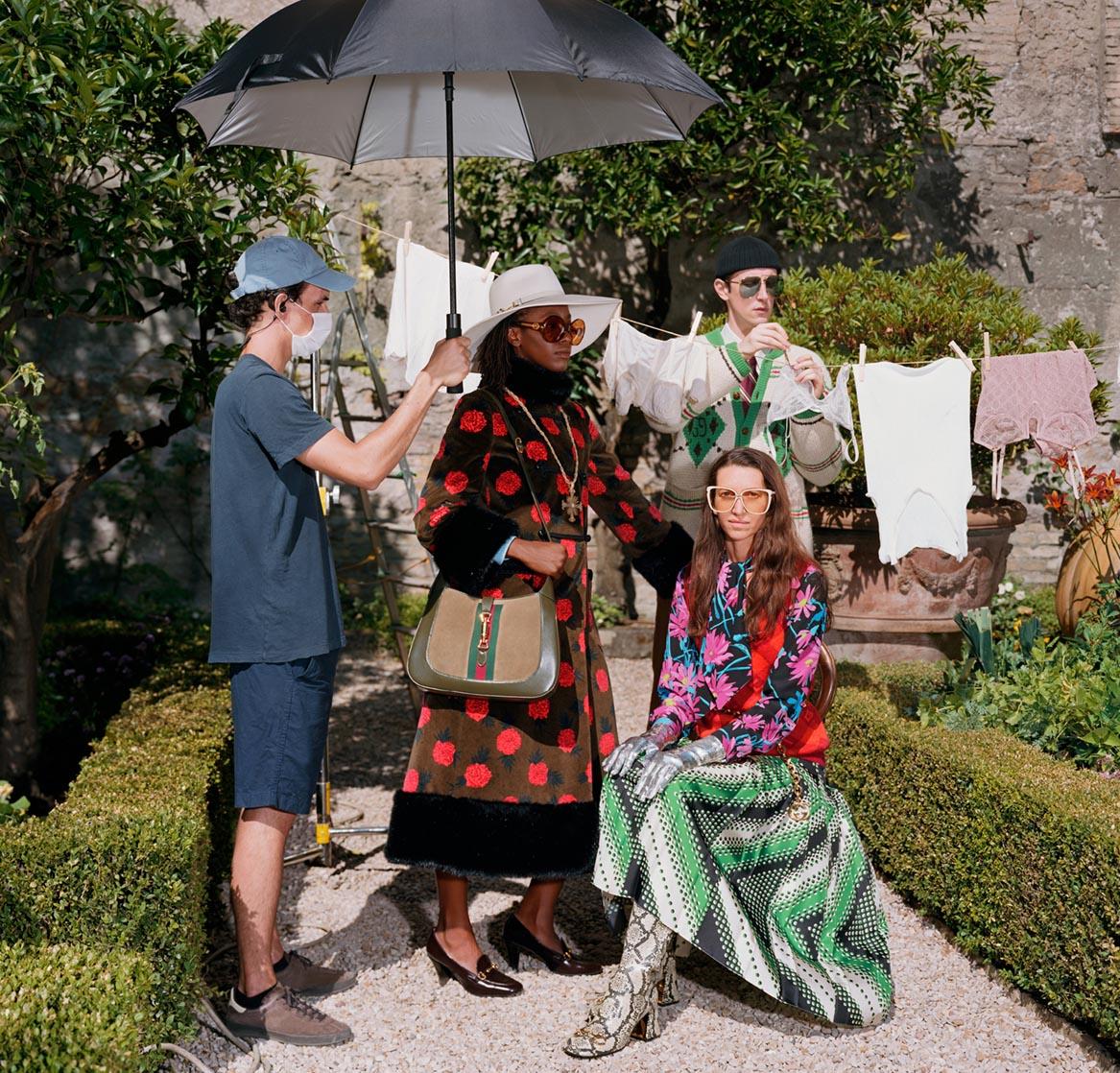Campaign BST Epilogue của Gucci bộ trang phục với hoạt tiết nổi bật